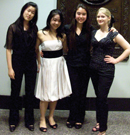 Sidney Lim, cello; Clare Yeo (a FTT alum), piano; Erin White, viola; and me.