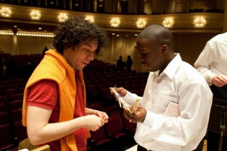 Joshua Jones with Gustavo Dudamel