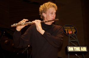 Flutist Douglas DeVries performing at our Aspen live radio taping.