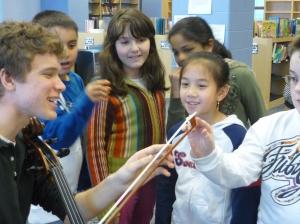 Raine Crosett at Whelan Elementary in Revere, MA