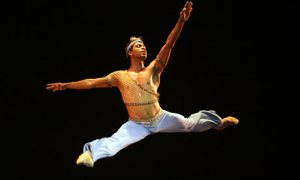 From the Guardian:Carlos Acosta during a performance of Le Corsaire at the Gran Teatro of Havana, 14 July, 2009. Photograph: Sven Creutzmann.