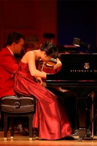 Hilda Huang performs with the Cincinnati Pops.