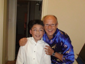 George Li with Maestro Christian Lindberg