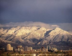 Salt Lake City skyline by WFRC