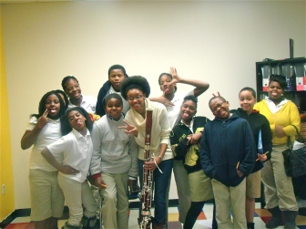 Sandra Bailey with Atlanta Preparatory Academy students