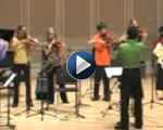 See Gregorio playing with the Violin Virtuosi