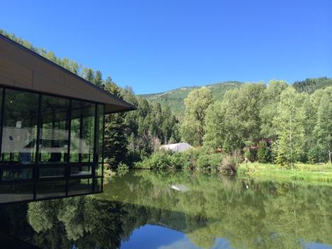 Mountains, pond, Aspen